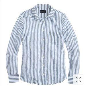 J. Crew striped crinkled gauze boy shirt 6